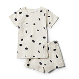 Organic Speckled Spots Short Sleeve Pyjama Set - Wilson and Frenchy