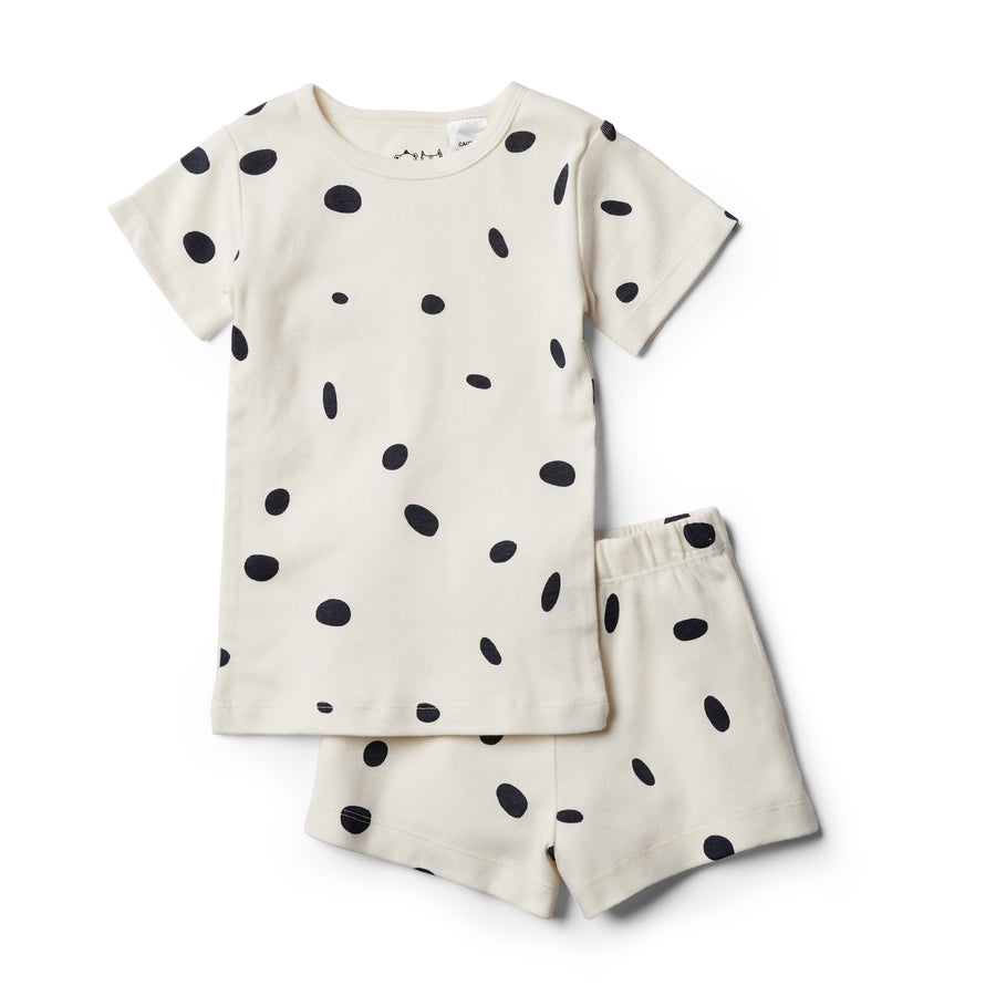 Organic Speckled Spots Short Sleeve Pajama Set