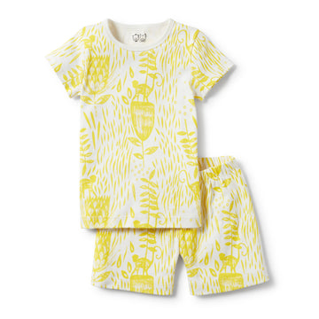 MELLOW YELLOW SHORT SLEEVE PYJAMA SET-KIDS SLEEPWEAR-Wilson and Frenchy