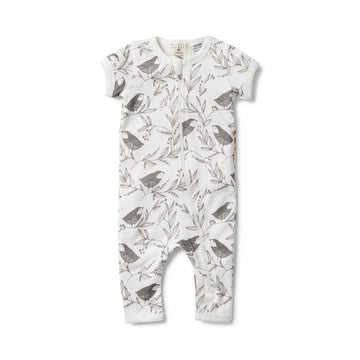 LITTLE FLOW SHORT SLEEVE ZIPSUIT - Wilson and Frenchy