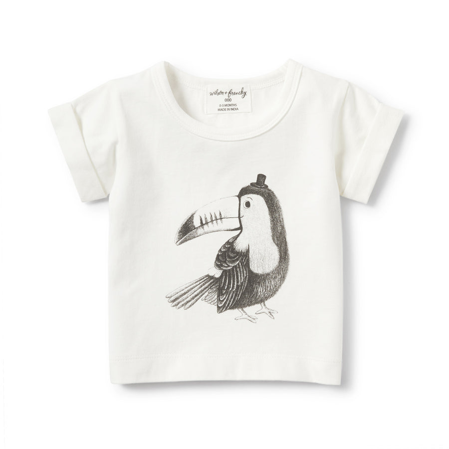 TOUCAN ROLLED CUFF TEE - Wilson and Frenchy