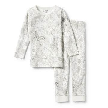 PEEKABOO LONG SLEEVE PYJAMA SET-KIDS SLEEPWEAR-Wilson and Frenchy