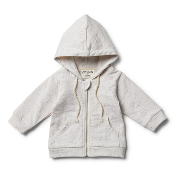 Fleck Hooded Jacket with Zip - Wilson and Frenchy