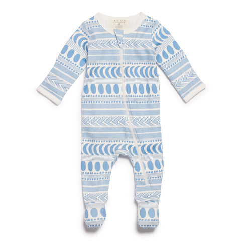 MOON AZTEC ZIPSUIT WITH FEET - Wilson and Frenchy