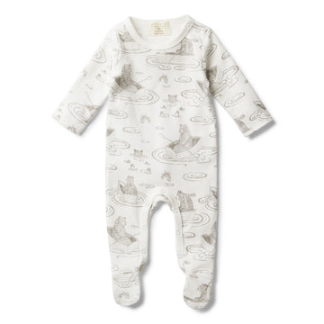 LITTLE ROW BOAT GROWSUIT WITH FEET - Wilson and Frenchy