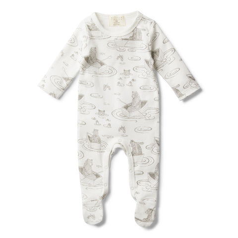 LITTLE ROW BOAT GROW SUIT WITH FEET - Wilson and Frenchy