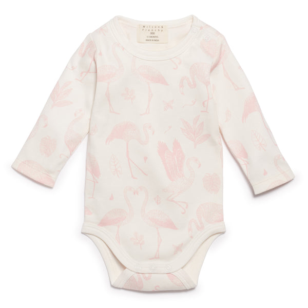 FLAMINGO LONG SLEEVE BODYSUIT