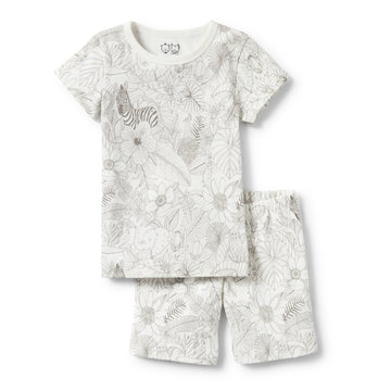 PEEKABOO SHORT SLEEVE PYJAMA SET-Wilson and Frenchy