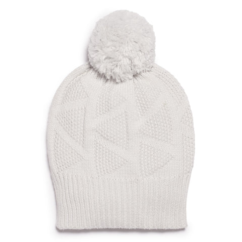 GLACIER GREY KNITTED HAT