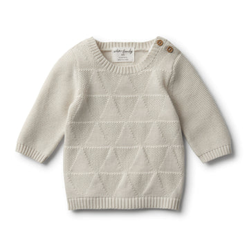 ICE GREY KNITTED JUMPER - Wilson and Frenchy