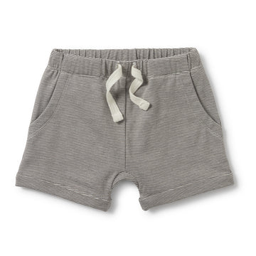CHARCOAL SLOUCH POCKET SHORTS-SHORTS-Wilson and Frenchy