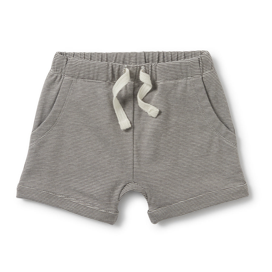 CHARCOAL SLOUCH POCKET SHORTS - Wilson and Frenchy