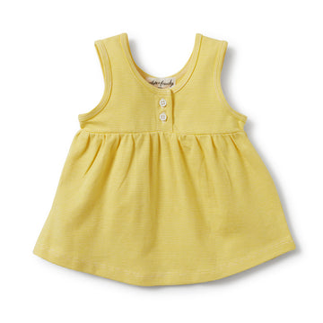 BUTTERCUP STRIPE BUTTONED TANK-SINGLET-Wilson and Frenchy
