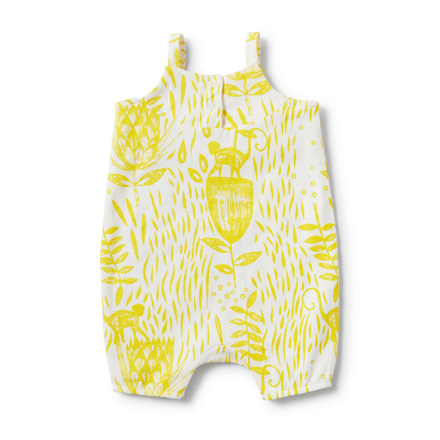 MELLOW YELLOW RUFFLE SINGLET STRAP PLAYSUIT-PLAYSUIT-Wilson and Frenchy