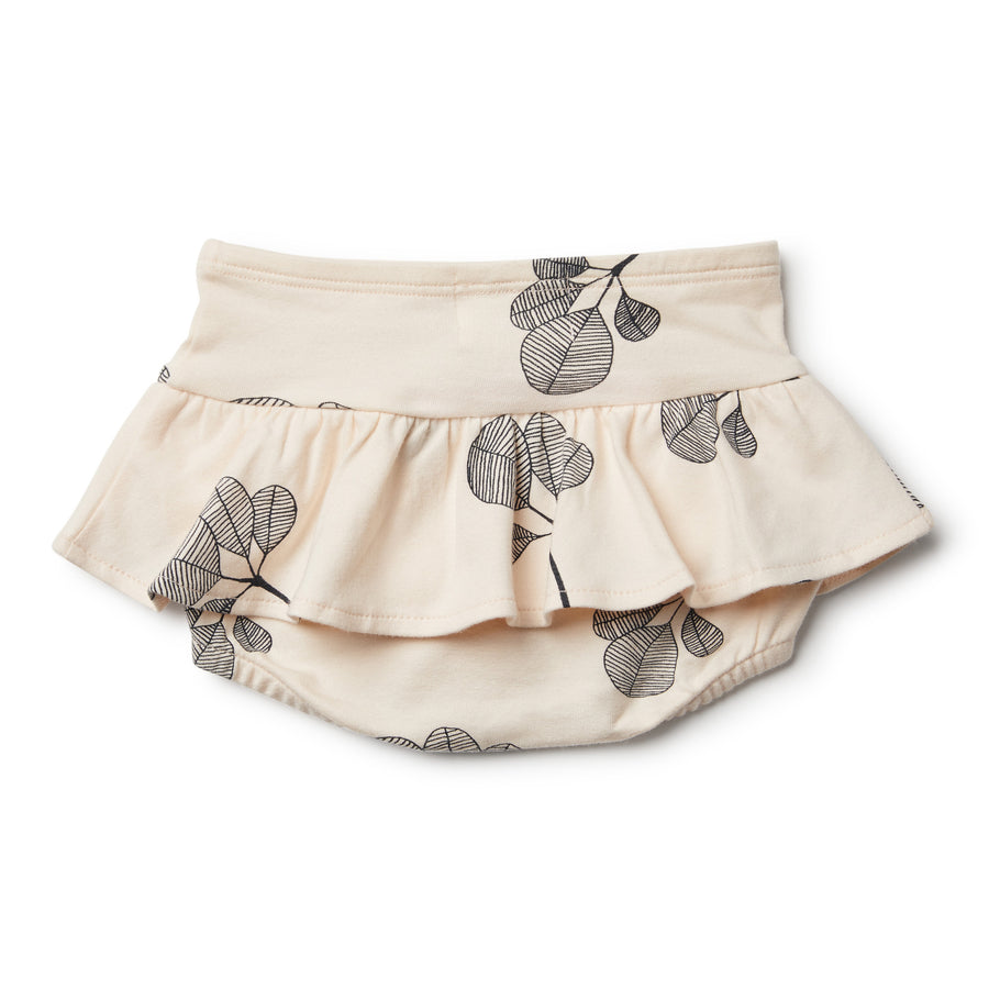Organic Fan Leaf Nappy Pant with Ruffle