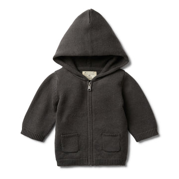 DARK MOON KNITTED ZIP THROUGH JACKET - Wilson and Frenchy