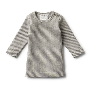ORGANIC ASH RIB LONG SLEEVE TOP
