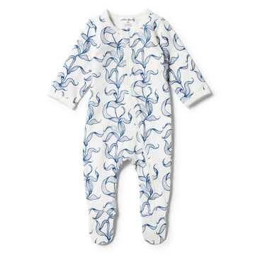 ORGANIC SEA GRASS ZIPSUIT - Wilson and Frenchy