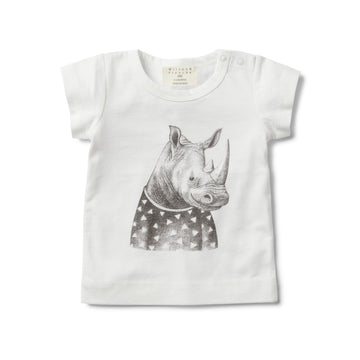 LITTLE RHINO SHORT SLEEVE TOP-T-SHIRT-Wilson and Frenchy