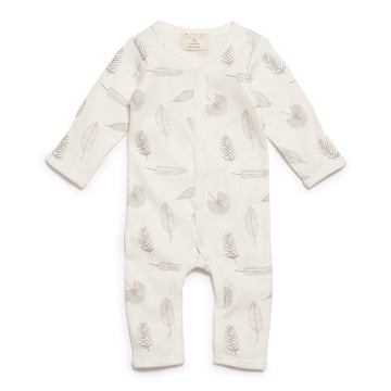 TINY LEAF LONG SLEEVE GROWSUIT-GROWSUIT-Wilson and Frenchy