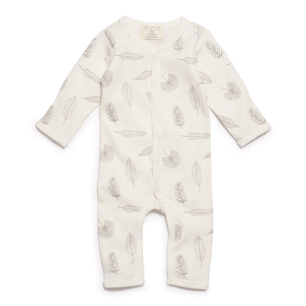 TINY LEAF LONG SLEEVE GROWSUIT