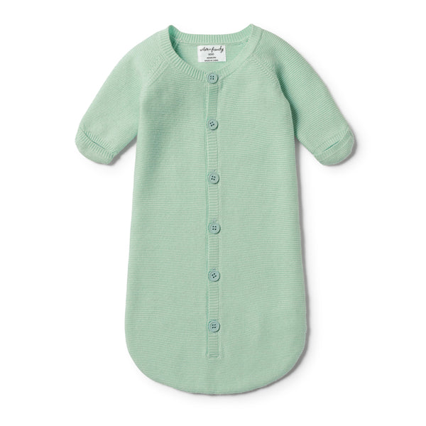 MOSS GREEN KNITTED COCOON SLEEPER - Wilson and Frenchy