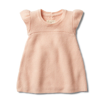 PEACHY PINK KNITTED DRESS-Wilson and Frenchy
