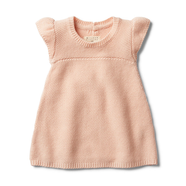PEACHY PINK KNITTED DRESS - Wilson and Frenchy