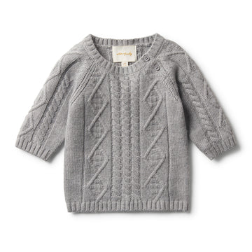 LUXE WOOL CABLE KNIT JUMPER