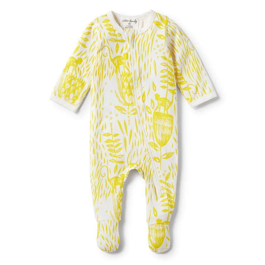 MELLOW YELLOW LONG SLEEVE ZIPSUIT-ZIPSUIT-Wilson and Frenchy