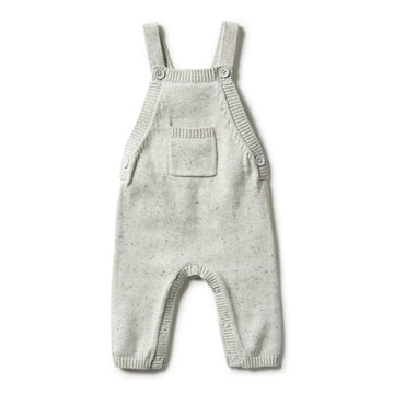 STEEL BLUE SPECKLE KNITTED OVERALL