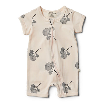 Organic Fan Leaf Boyleg Zipsuit - Wilson and Frenchy