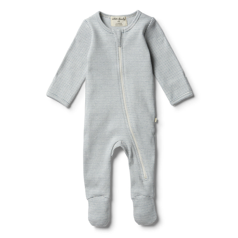 Organic Faded Denim Zipsuit - Wilson and Frenchy