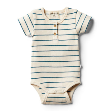 Organic Jungle Green Stripe Bodysuit