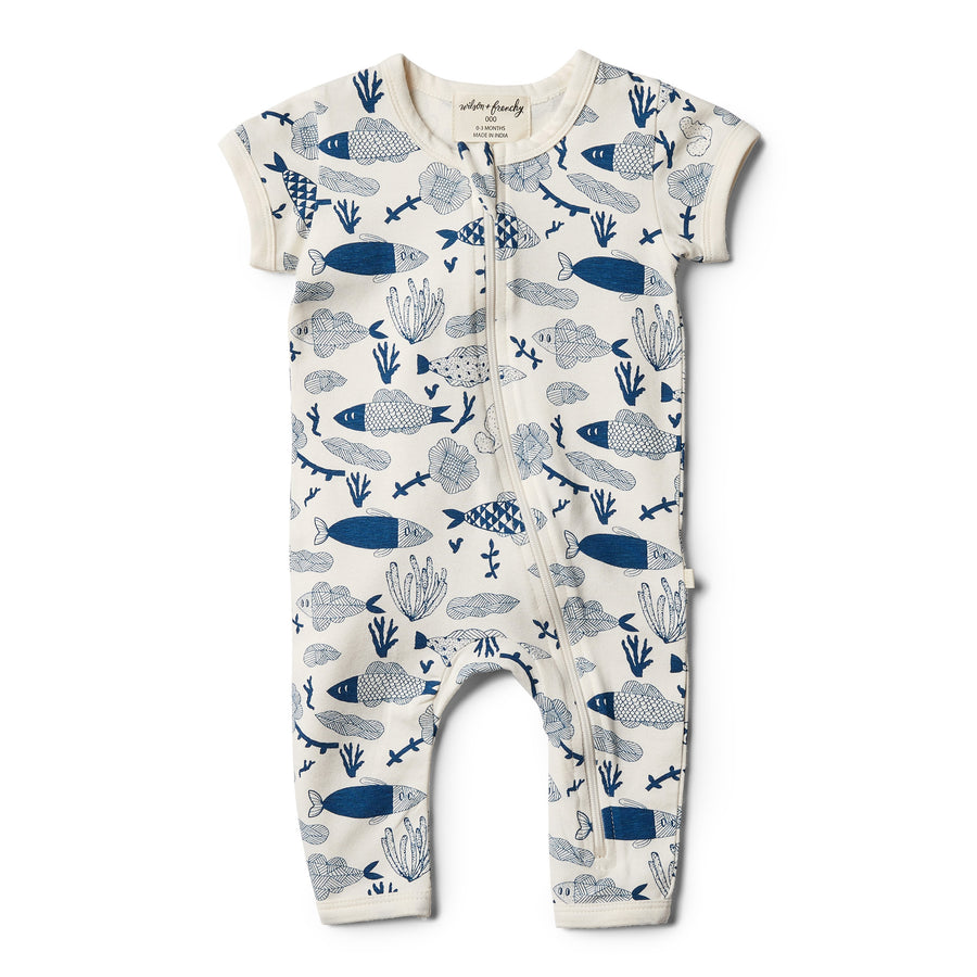 Organic Little Fin Zipsuit