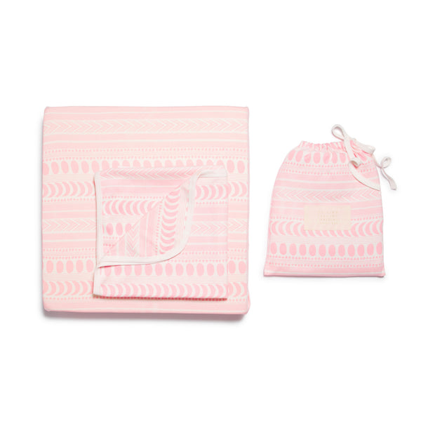 PINK MOON AZTEC COT SHEET SET