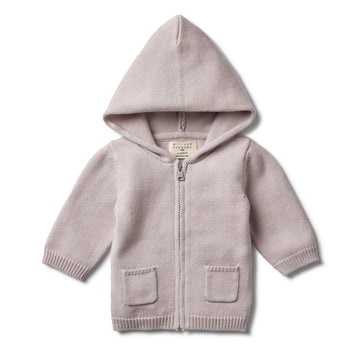 FAWN KNITTED ZIP THROUGH JACKET-KNITTED JACKET-Wilson and Frenchy