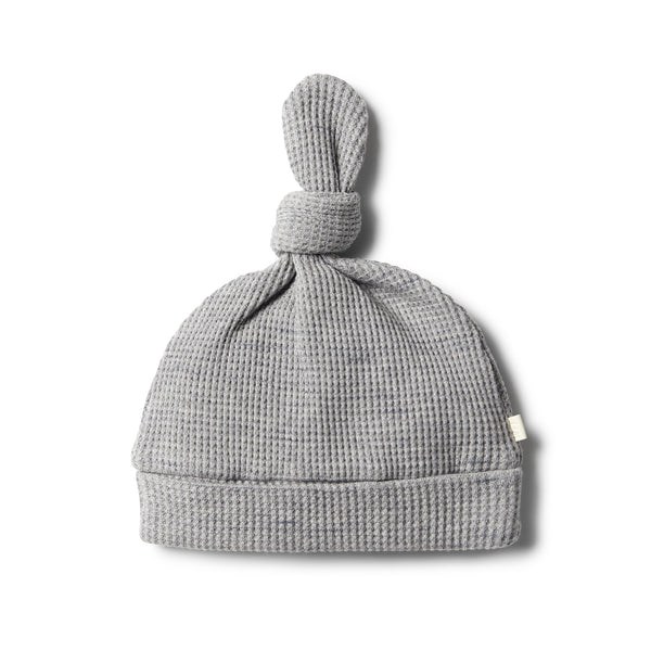 Cloud Grey Waffle Knot Hat - Wilson and Frenchy