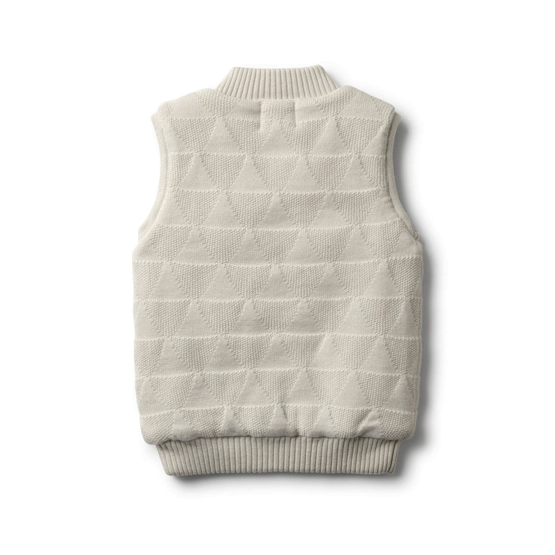 ICE GREY KNITTED VEST - Wilson and Frenchy