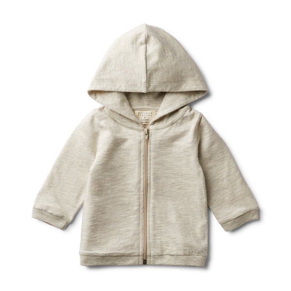 GREY FLECK HOODED JACKET - Wilson and Frenchy
