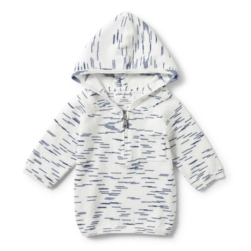 TRUE NAVY SPACEDYE ZIPPED HOODIE-KNITTED JUMPER-Wilson and Frenchy