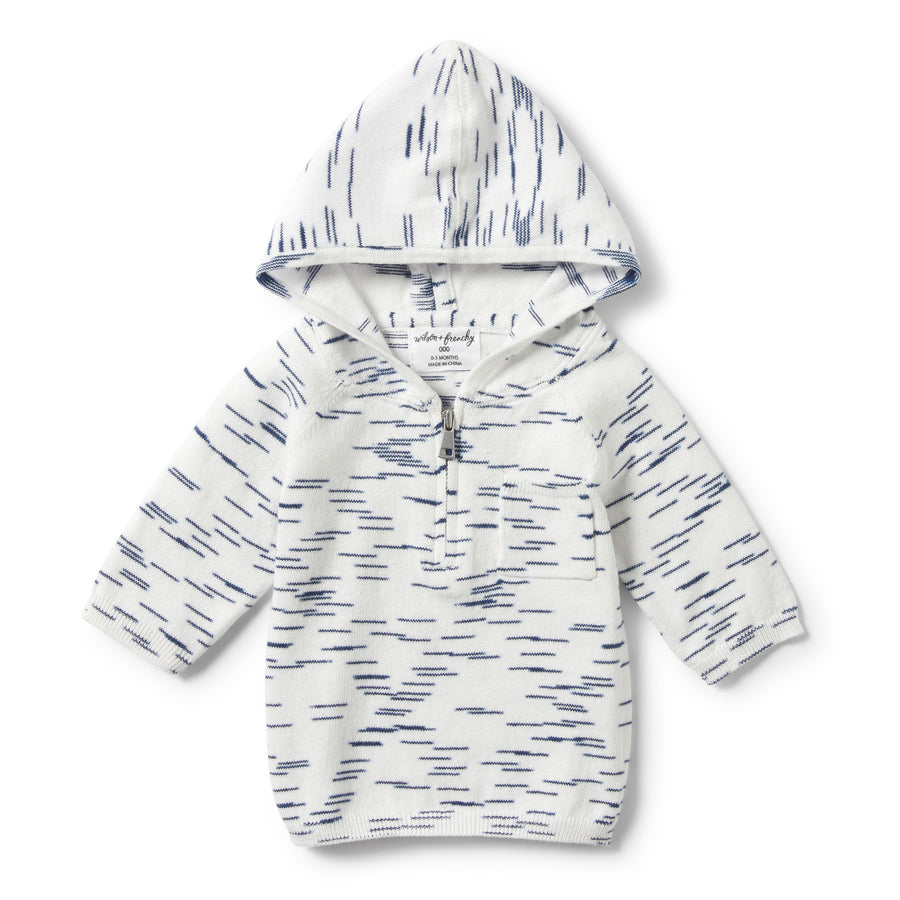 TRUE NAVY SPACEDYE ZIPPED HOODIE-Wilson and Frenchy