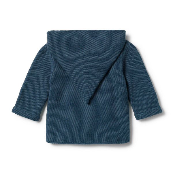 STEEL BLUE KNITTED JACKET - Wilson and Frenchy