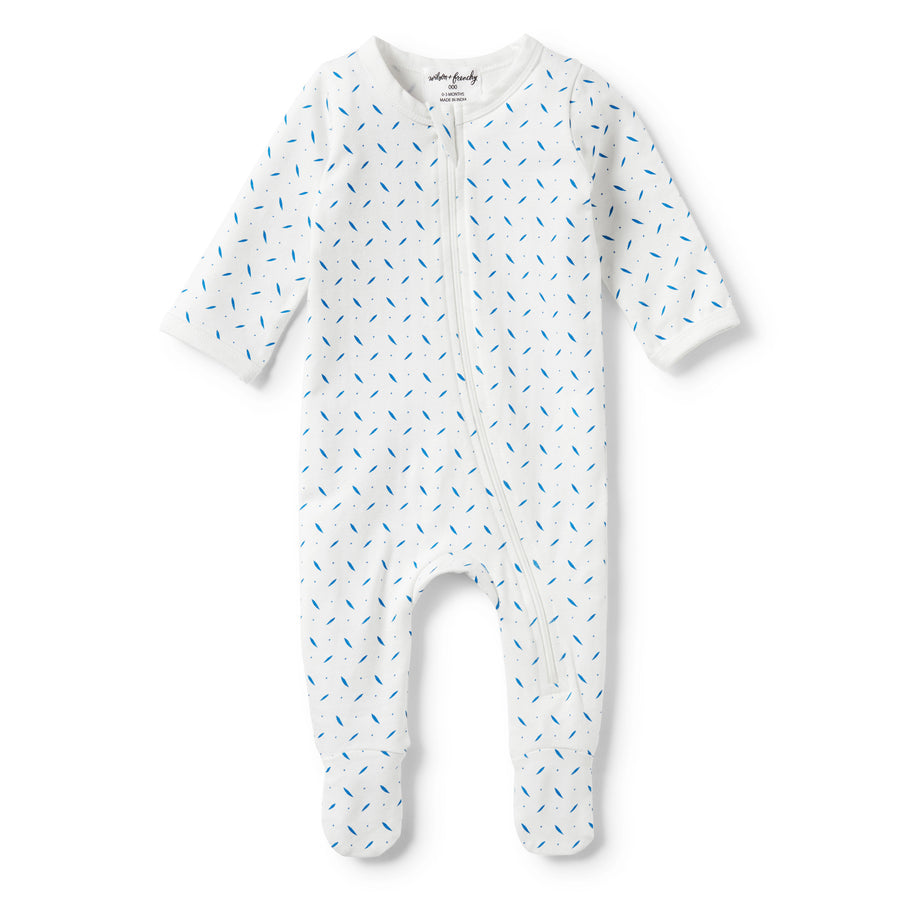 DROPLET LONG SLEEVE ZIPSUIT - Wilson and Frenchy