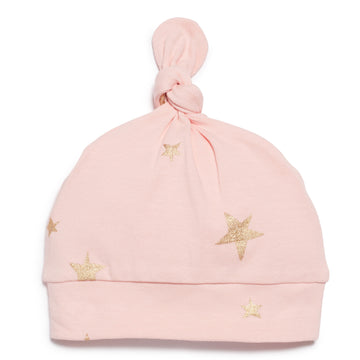 PINK STAR BRIGHT  KNOT HAT-Wilson and Frenchy