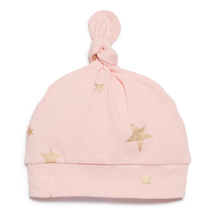 PINK STAR BRIGHT  KNOT HAT - Wilson and Frenchy