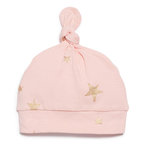 PINK STAR BRIGHT  KNOT HAT