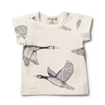 Organic Lets Fly Away Tee - Wilson and Frenchy