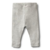 ORGANIC GREY MARLE RIB LEGGING - Wilson and Frenchy