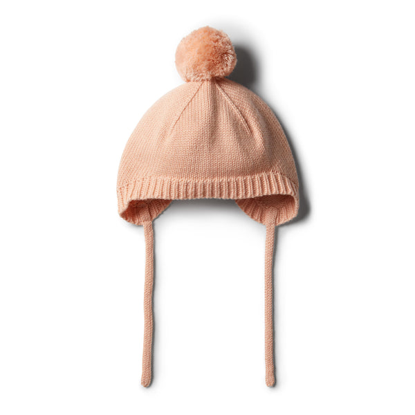 Tropical Peach Knitted Bonnet - Wilson and Frenchy